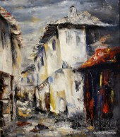 Painting ''Picture Bulgarian House''