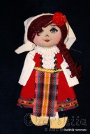 Traditional Bulgarian little rag doll