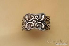 Forged silver bracelet
