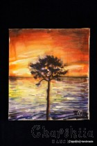 Batik Silk Painting ''Energy wood 2""