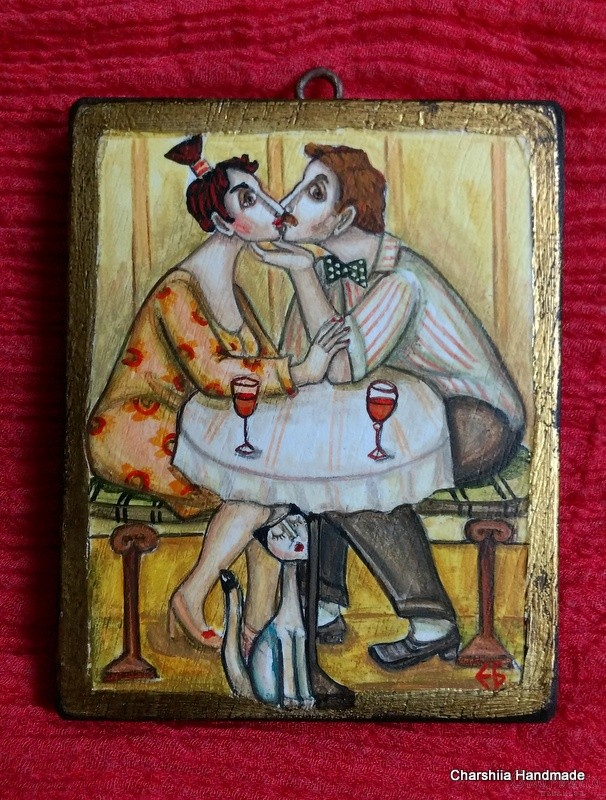 "Painting ""Love and kiss 3''"