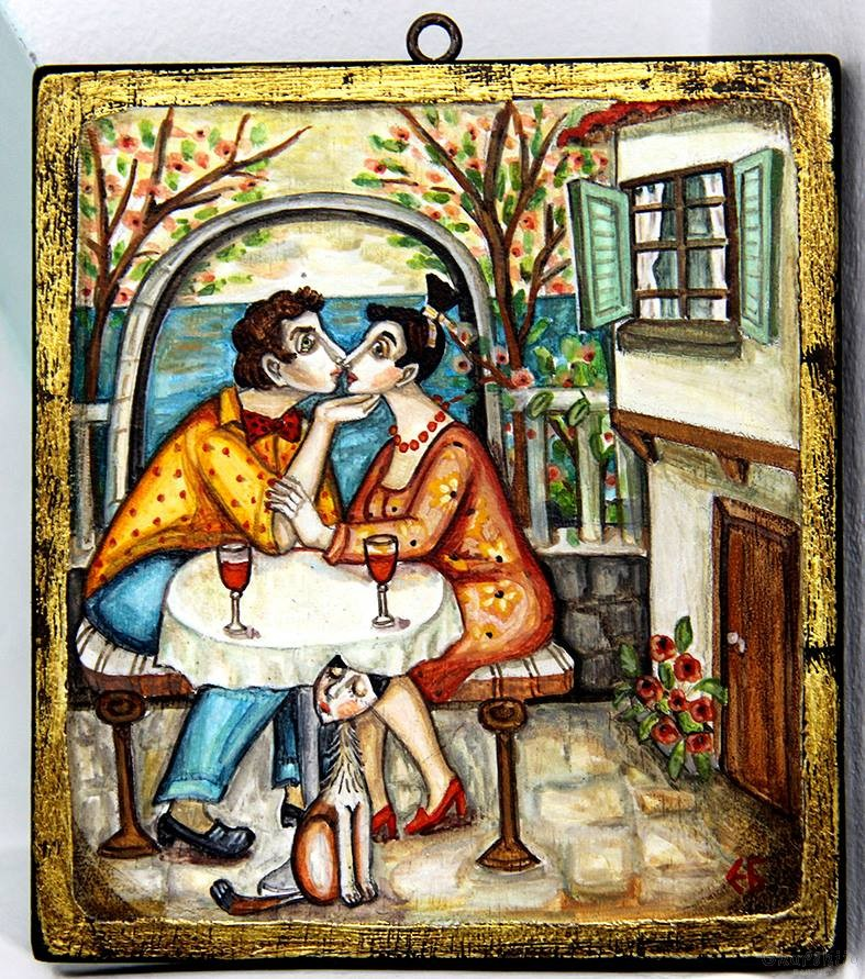 "Painting ""Love and kiss 4''"