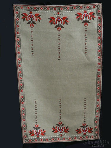 Table runner with Bulgarian embroidery