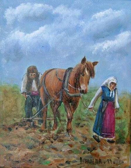 painting ''Family plowing''