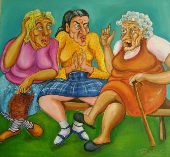 painting ''Important topics for conversation''