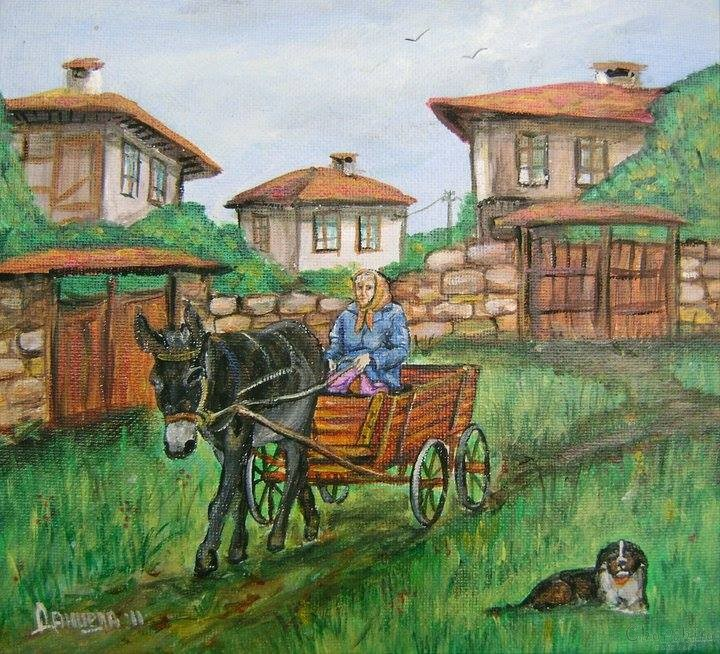 Painting Country transport