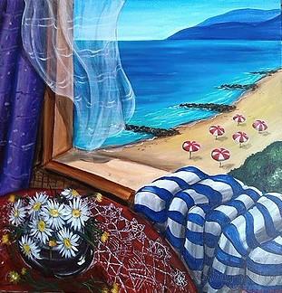 painting ''Beach view''