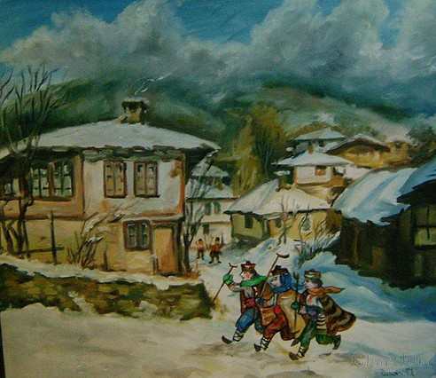 "painting ""Winter holiday"""