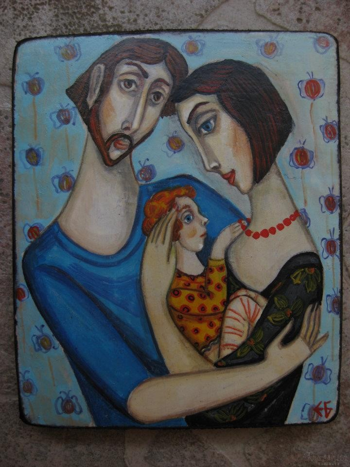 """Painting """"Family 1''"""