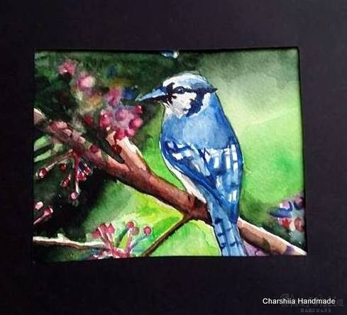 "Painting ''Aquarelle - Bird"" 2"
