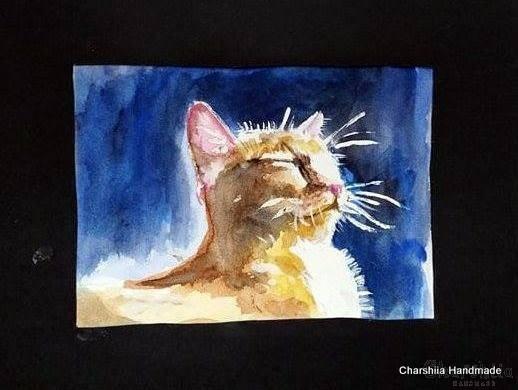 Painting ''Aquarelle - Cat'' 8