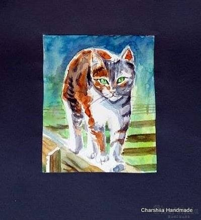 Painting ''Aquarelle - Cat'' 9