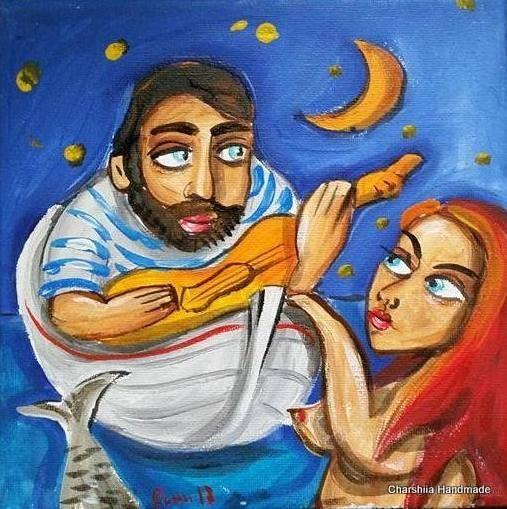 Painting ''Fisherman and mermaid'' 2
