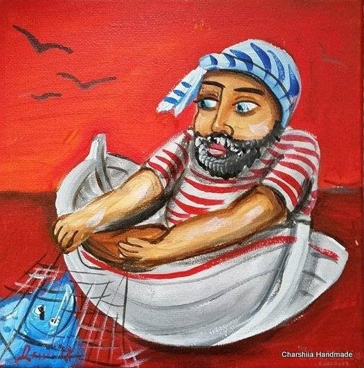 Painting ''Fisherman'' 5