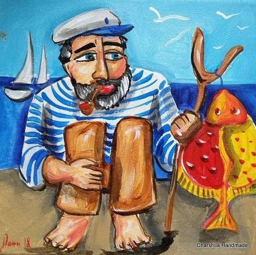 Painting ''Fisherman'' 2