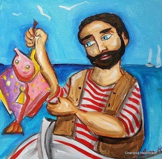 Painting ''Fisherman'' 1