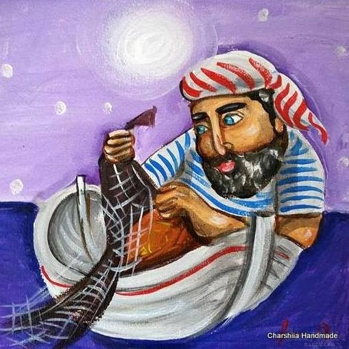 Painting ''Fisherman'' 3