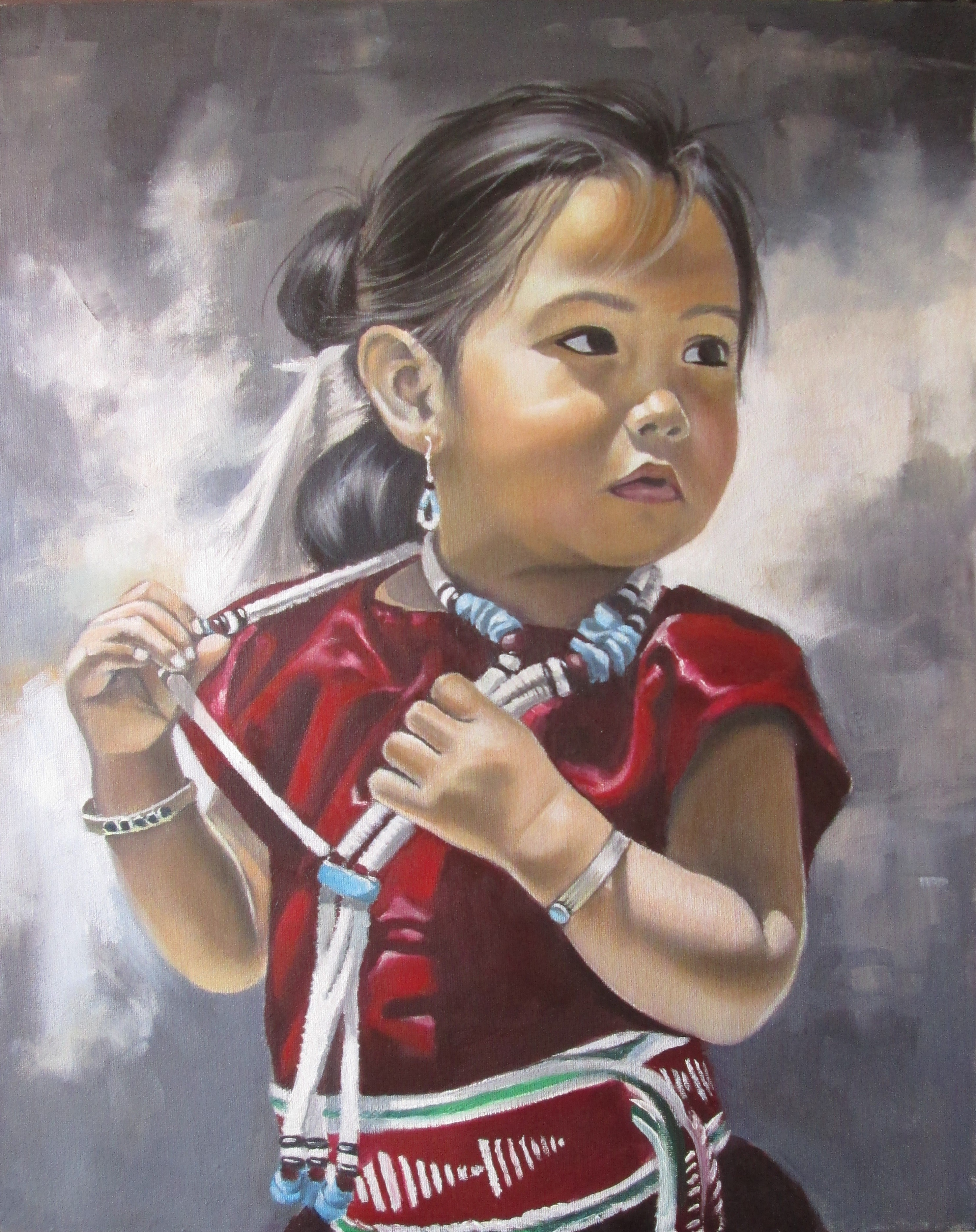 Painting ''Indian child''