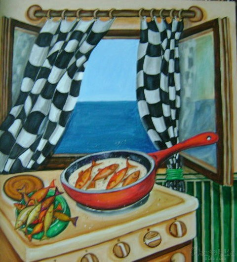 painting ''Sea lunch''