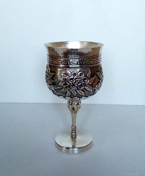 Silver cup with ornaments 5