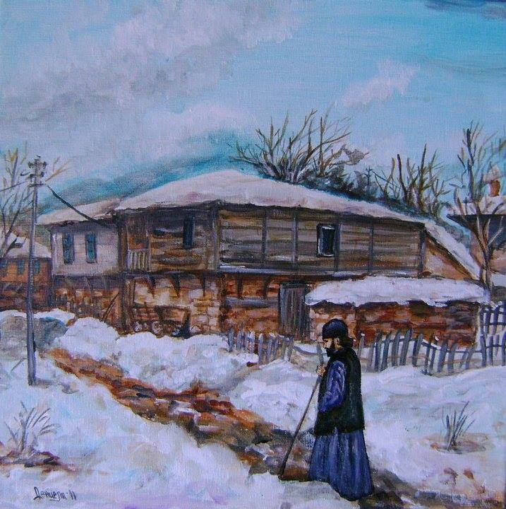 painting ''Winter afternoon''