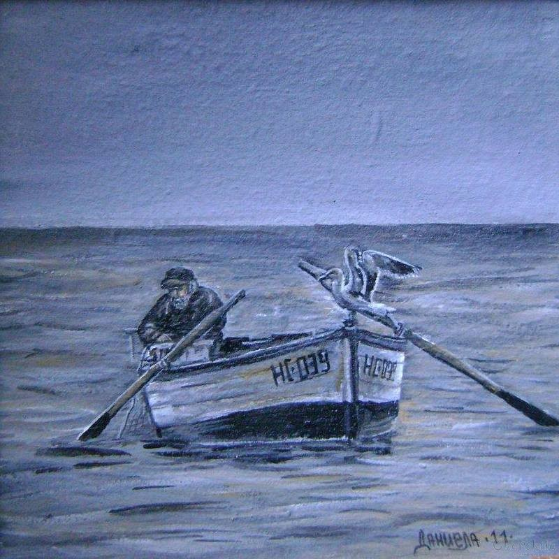 painting ''The sailor and his seagull''