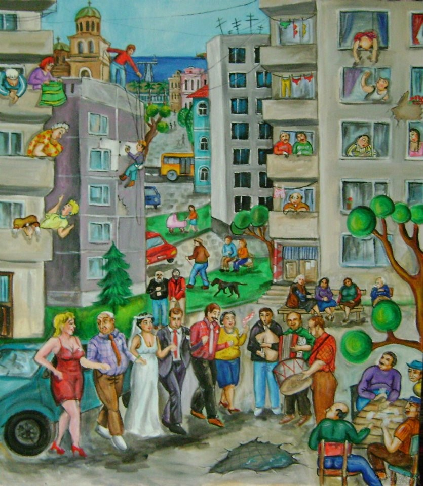 painting ''Great wedding''