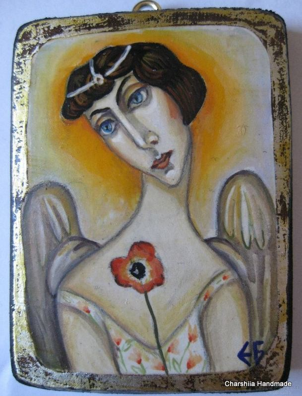 "Painting ""Angel Flower''"
