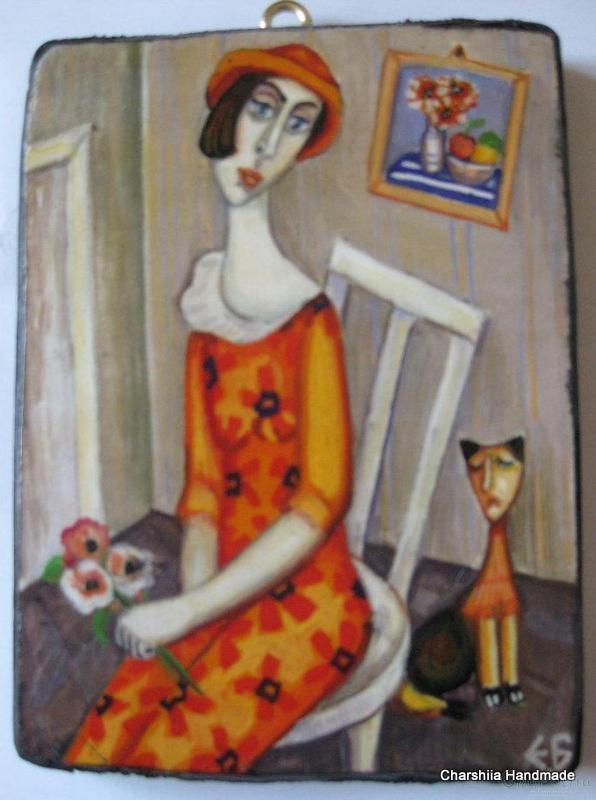 "Painting ""Waiting''"