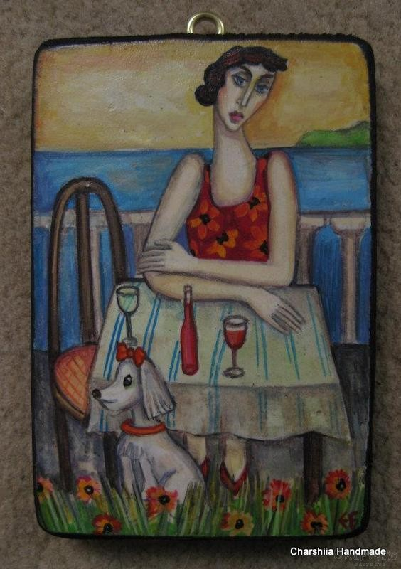 Painting ''Meeting of red wine''