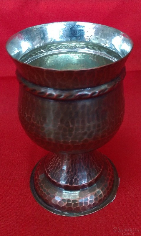 Copper brandy cup
