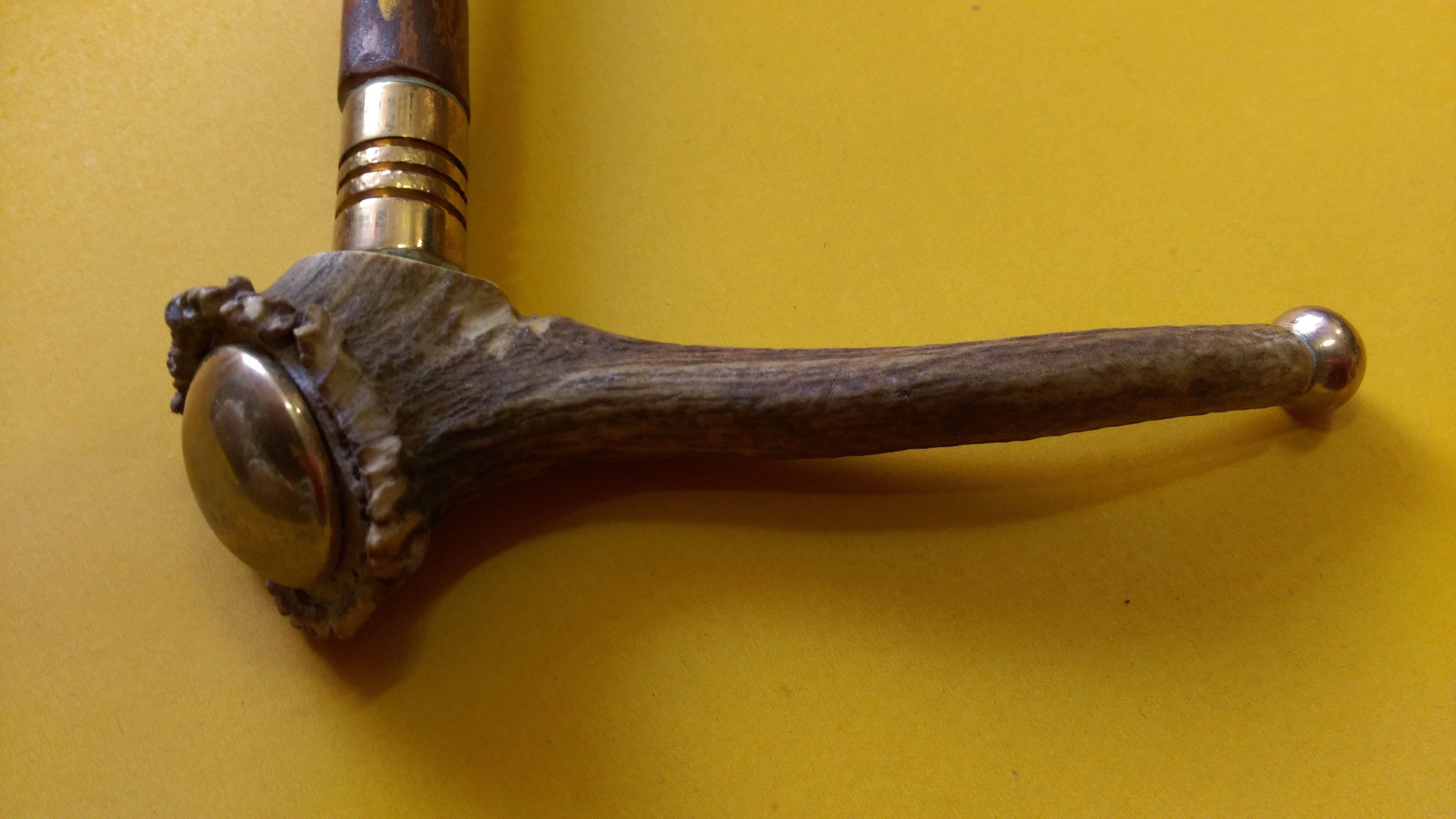 Walking stick (wood and brass)