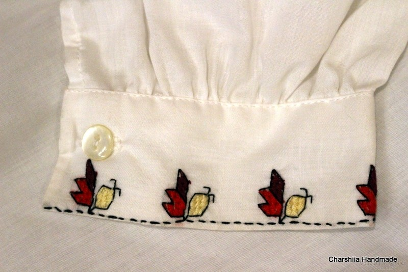 Junior shirt for boy with Bulgarian embroidery