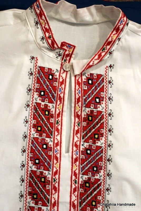Men's shirt with Bulgarian embroidery