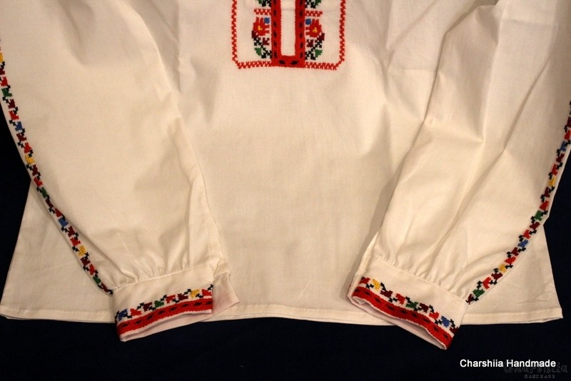 Shirt for little boy with Bulgarian embroidery