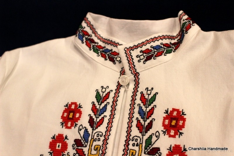 Top for little grils with Bulgarian embroidery