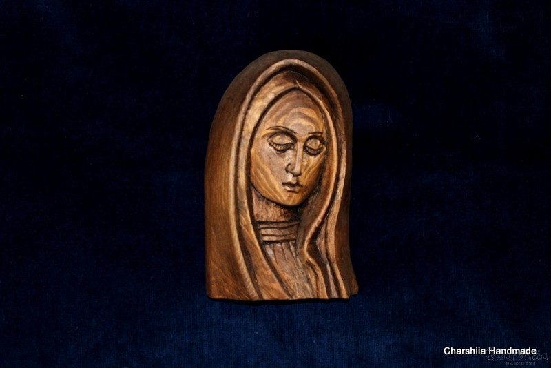 Woodcarving - Icon image of Virgin Mary