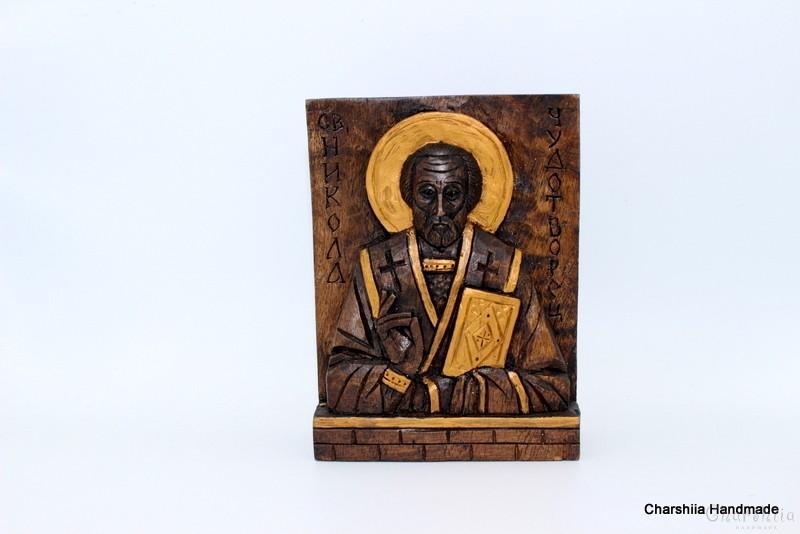 Woodcarving - Icon image St. Nicholas