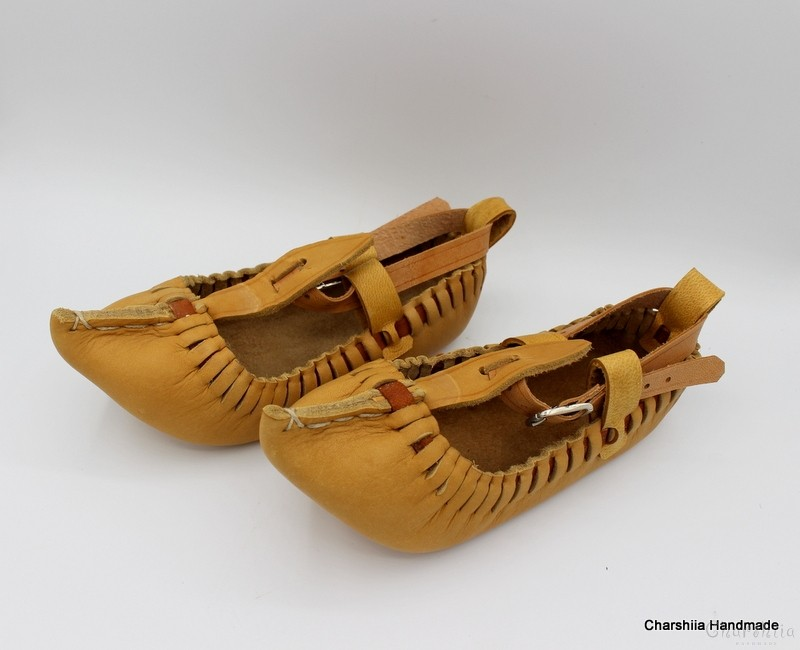 Footware of calfskin