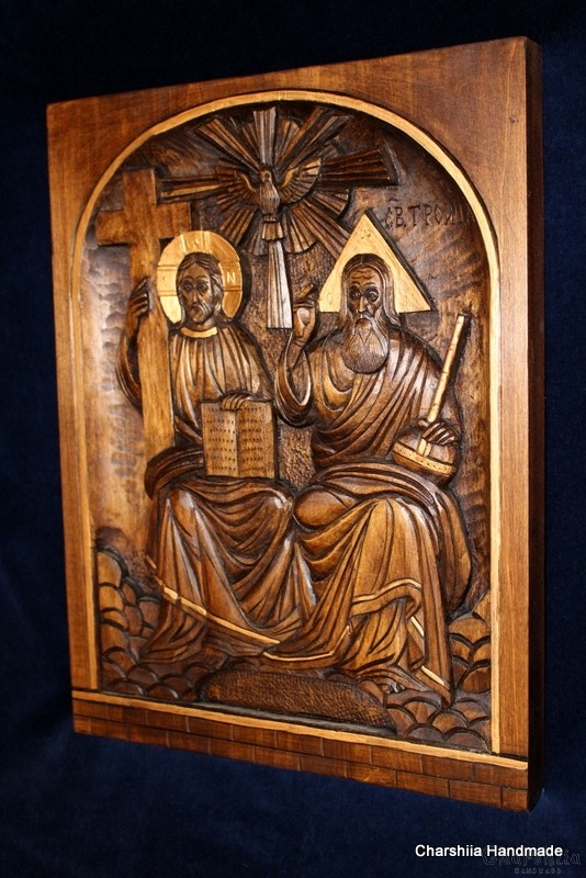 Woodcarving - icon of the Holy Trinity