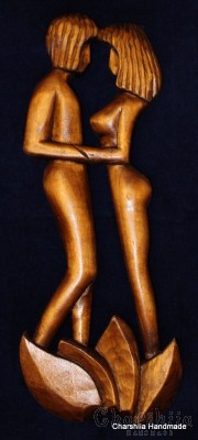"Woodcarving ""Intimacy"""