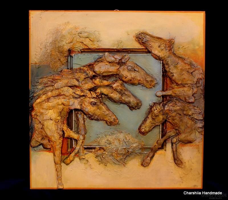 """Painting """"Ceramic horses"""""""