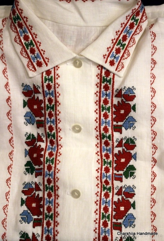 Ladies shirt with Bulgarian embroidery