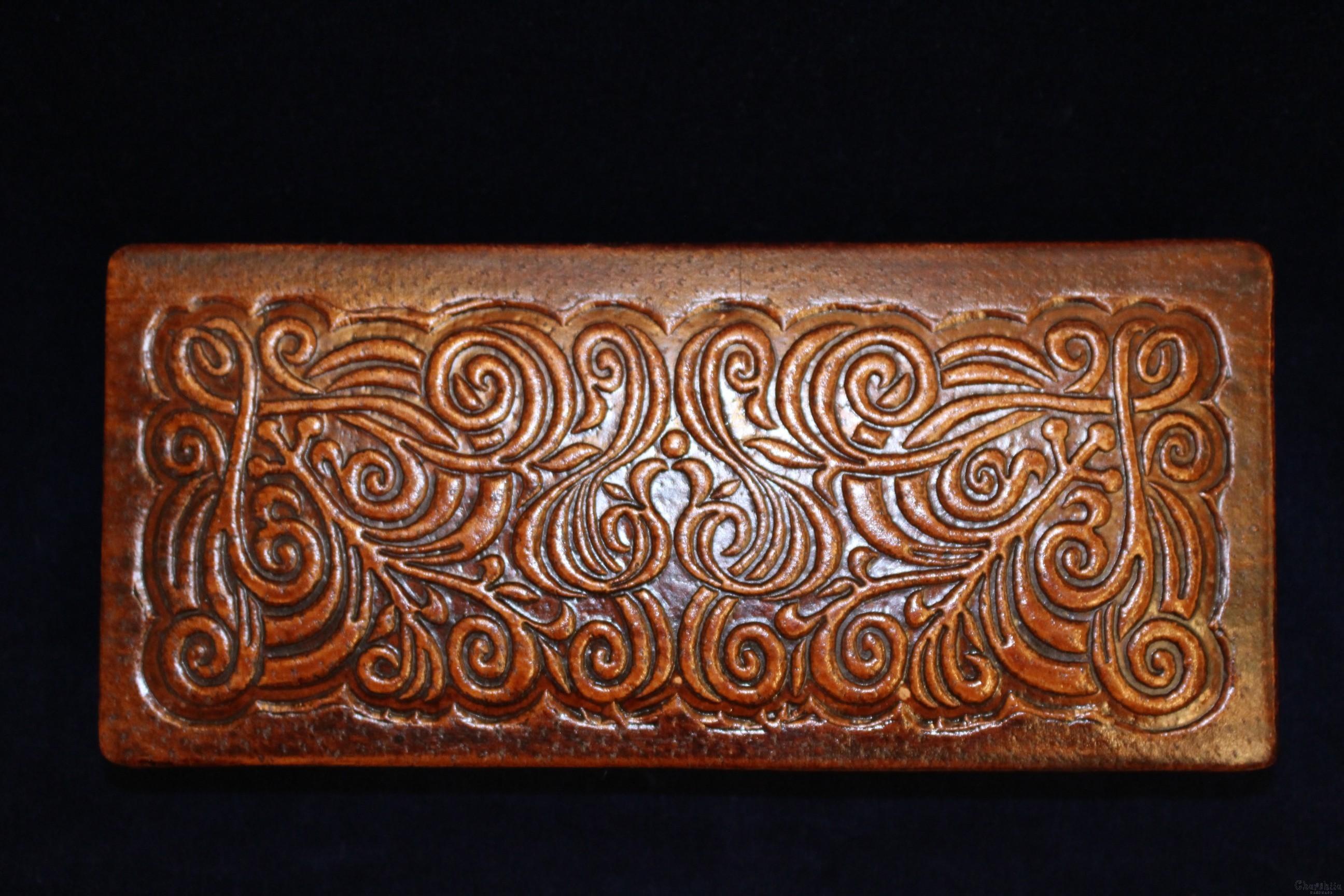 Jewelry Box genuine leather ''double''