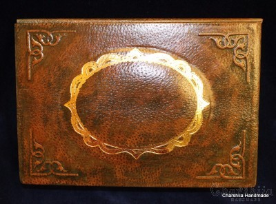 Jewelry Book Box, handmade, genuine leather