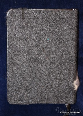 Notebook dressed with felt covers