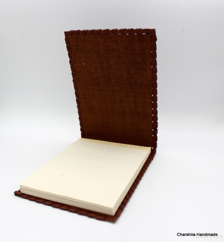 Book cover and Glasses case, handmade, genuine leather