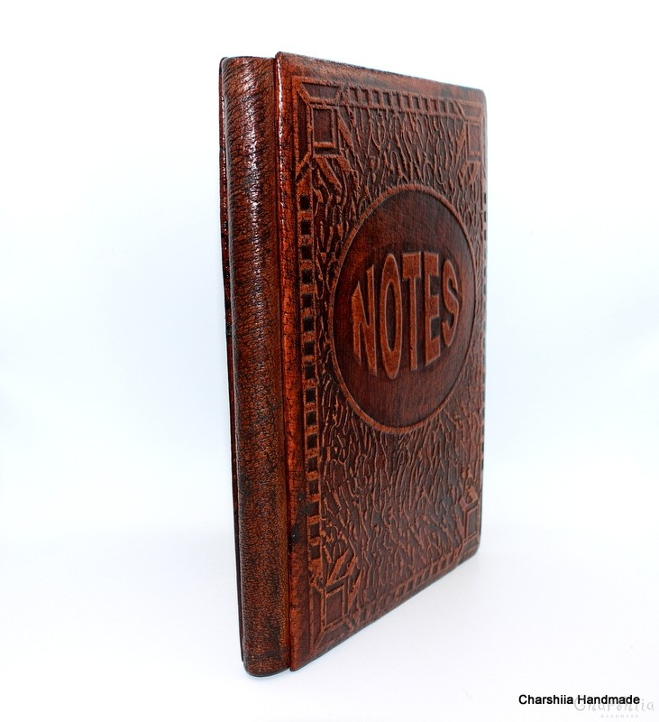 Notebook, handmade, genuine leather