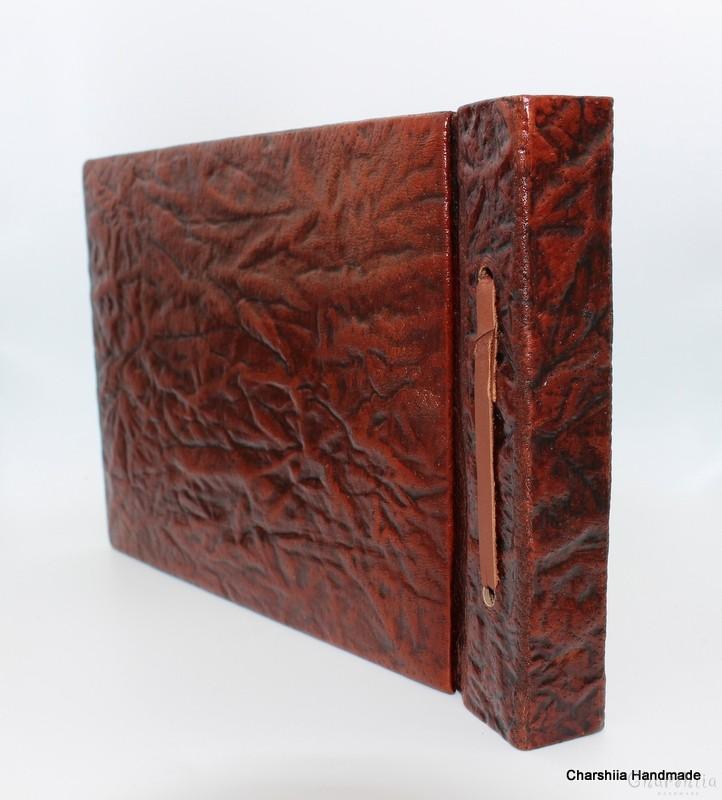 Classical photoalbum, handmade, genuine leather