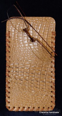 Glasses case, handmade, genuine leather